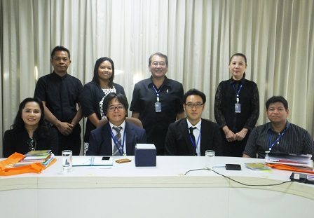 Group photo with the officials of the Embassy of Japan, Mr. Goichiro Kimura (First Secretary) and Mr. Keisuke Karaki (outgoing First Secretary), and APCD staff