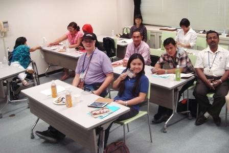Training participants attending a job coaching seminar