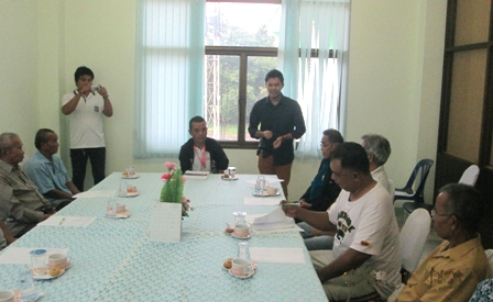 Meeting with local partners in Kantaralak Municipality