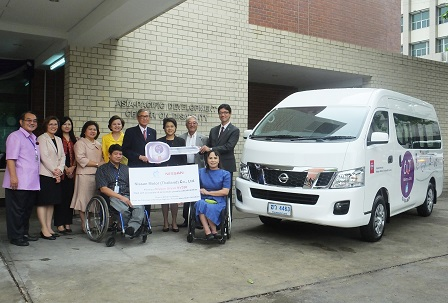 Handover of the accessible van by Nissan Motor (Thailand), Co., Ltd. to APCD
