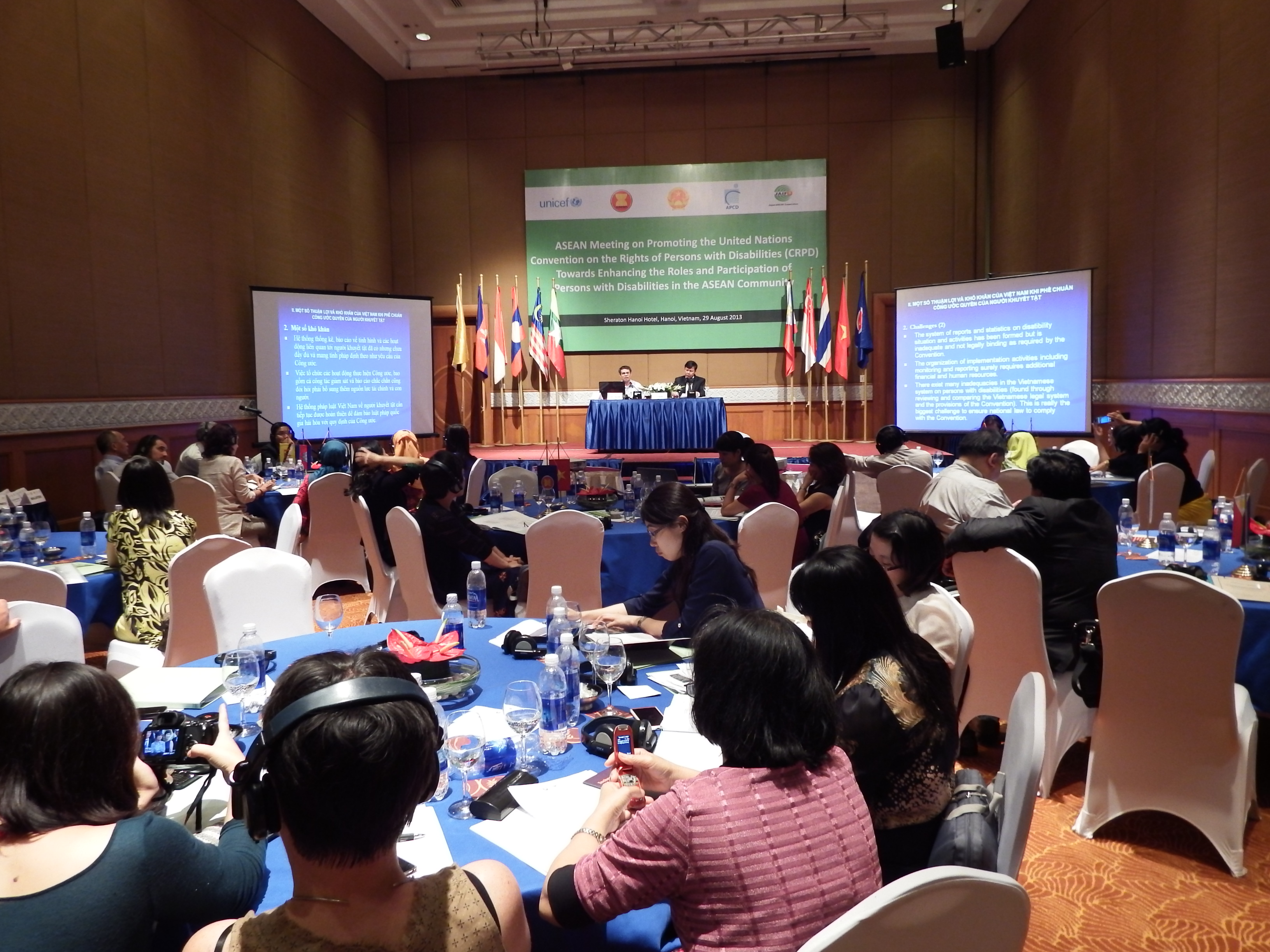 Presentations on the Challenges of Ratification on CRPD