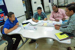Mayer Dexter Yasay participating group work on CBR Training at APCD