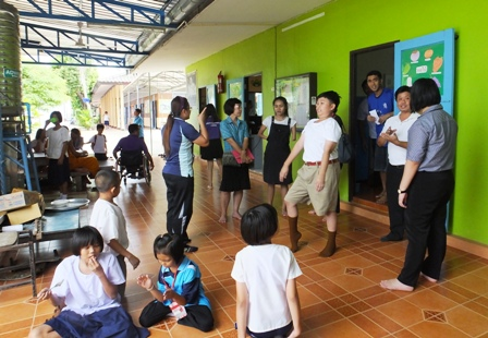 Observation and interaction with students and staff of the Ratchaburi Special Education Center