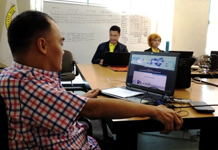 The Online Captioning Project team during the mid-term review and evaluation