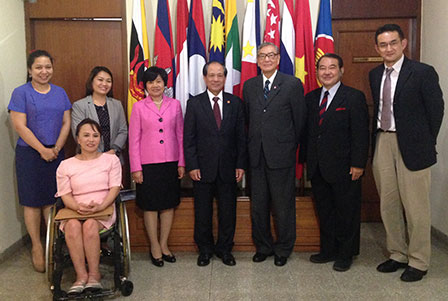 Group photo with top officials of ASEAN Secretariat