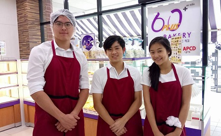 Volunteer interns at the 60 Plus+ Bakery & Cafe