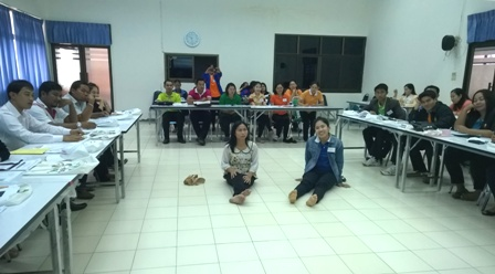 Special education teachers taking part in Workshop exercises