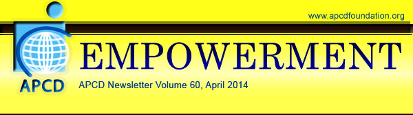 Empowerment, APCD Newsletter Volume 60: April 2014