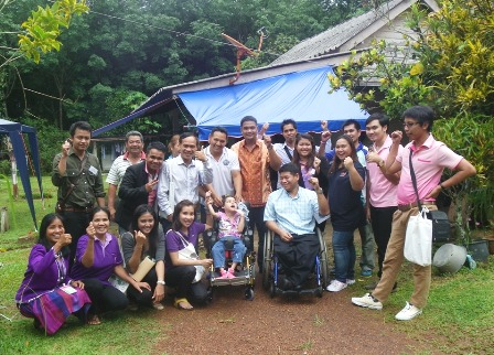 Visit to the home of a child with disabilit