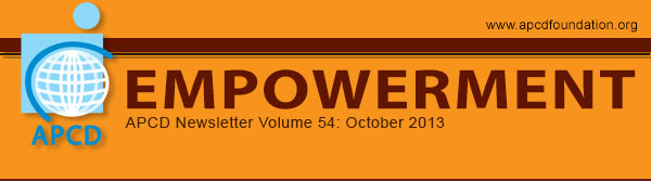Empowerment, APCD Newsletter Volume 54: October 2013