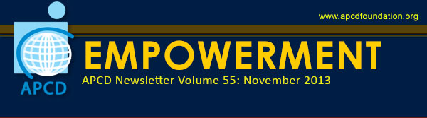 Empowerment, APCD Newsletter Volume 55: November 2013