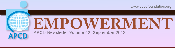 Empowerment, APCD Newsletter Volume 42: September 2012