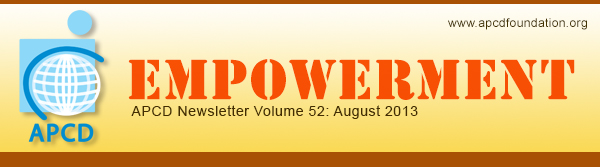 Empowerment, APCD Newsletter Volume 50: June 2013