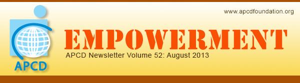 Empowerment, APCD Newsletter Volume 50: June 2013