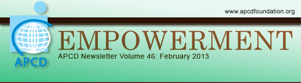 Empowerment, APCD Newsletter Volume 46: February 2013