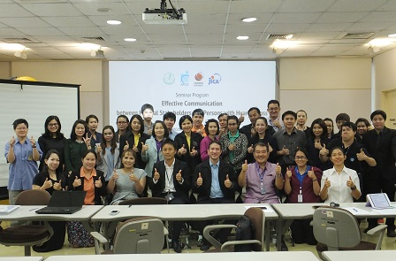 Group photo of hospital staff participants with APCD and Deaf Association of Bangkok