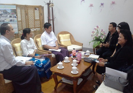 Meeting with officials from the Department of Social Welfare of the Ministry of Social Welfare, Relief and Resettlement of Myanmar