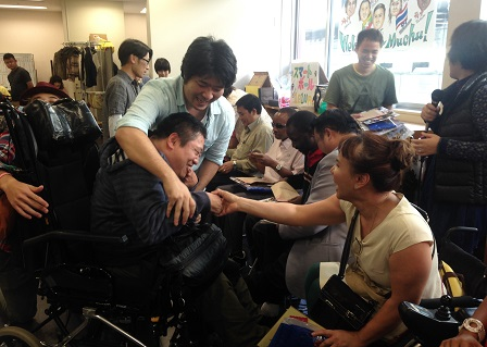 Meet and greet with persons with disabilities at the Muchu Independent Living Center