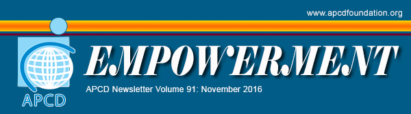 APCD Empowerment newsletter Volume 91: November 2016