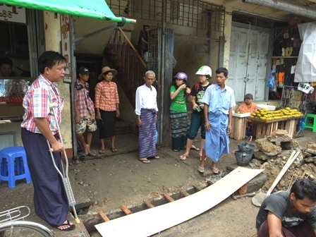 Market modification of Myo Ma Zay Gyi Market