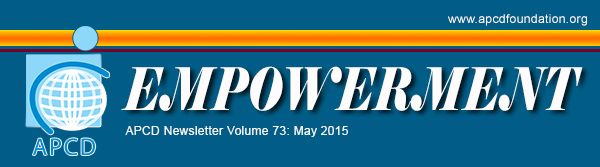 Empowerment APCD Newsletter Volume 73: May 2015
