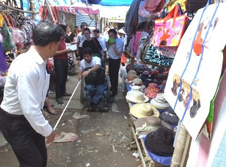 Accessibility audit at Tay Dang Market