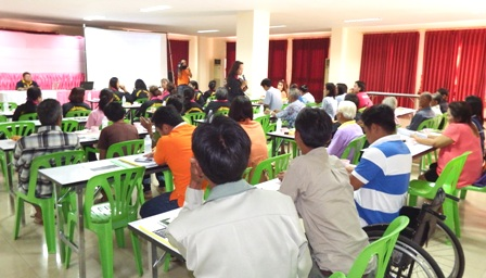 Workshop participants being briefed about CBID principles
