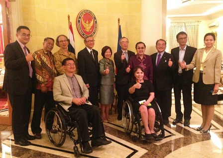 A gathering among ASEAN senior officials, APCD and other partners