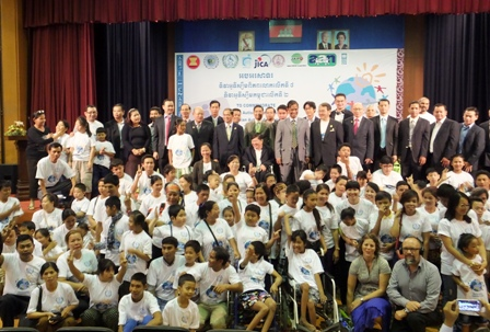 Group photo of the 8th World Autism Awareness Day participants