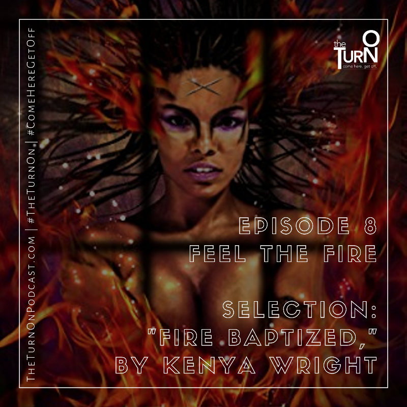 Book cover shows close up of Black woman with locs, surrounded by flames.