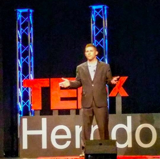 Jeremy Pesner speaking at TEDx Herndon
