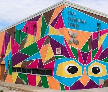 Cecil Elementary mural