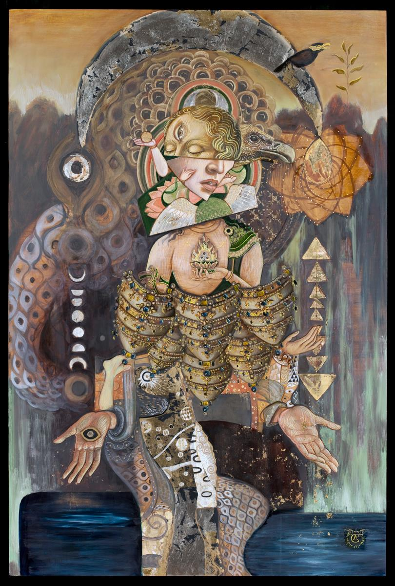 Artemis, oil on panel by Carrie Ann Baade