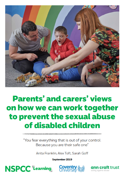 NSPCC report - report cover