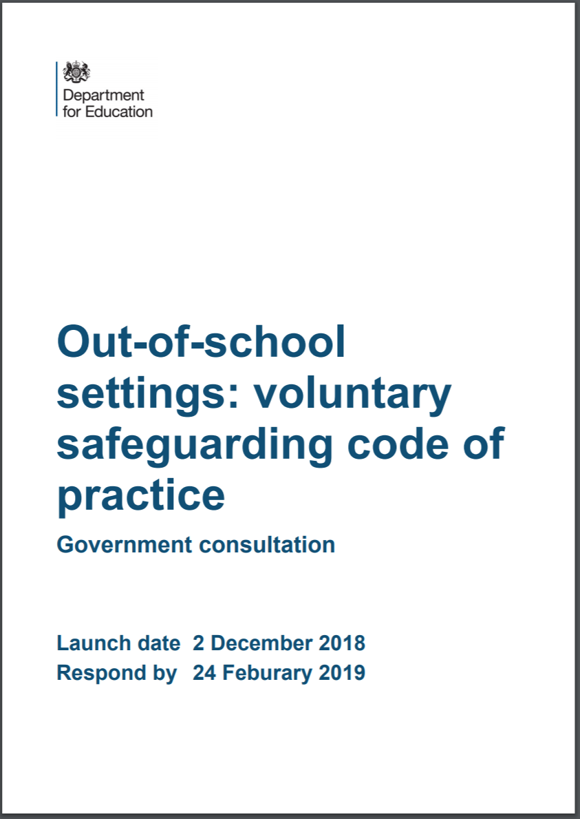 Out-of-school-settings consultation front cover