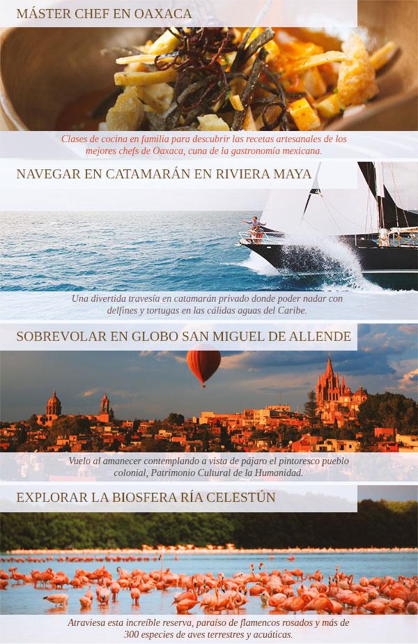 Viajes en familia, México, Oaxaca, Riviera Maya, San Miguel de Allende, Ria Celestun