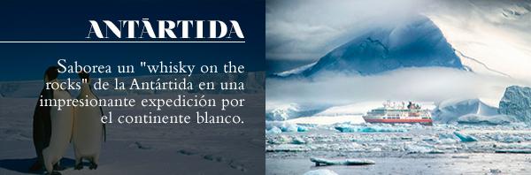 Viaje de fin de año con NUBA. Antártida,Saborea un whisky on the rocks de la Antártida en una impresionante expedición por el continente blanco.