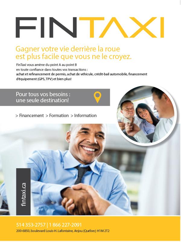 Partenaire FINTAXI pour achat et refinancement de permis et plus encore; fintaxi.ca; 1-866-227-2091