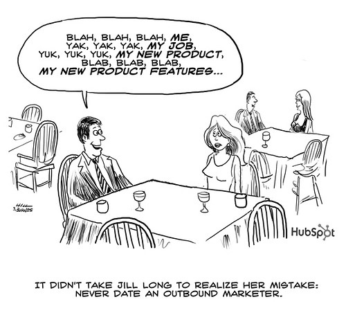 It didn't take long for her to realize her mistake.  Never date an outbound marketer.