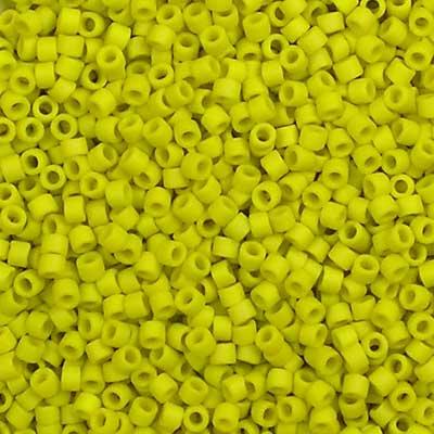 Beadstampede 11/0 Miyuki Delica DB2283 Matte Glazed Citron