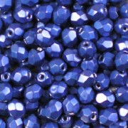 Beadstampede ColorTrends: Metallic Lapis Blue   4mm Fire-polished Beads