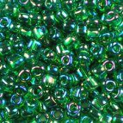 TR8-1154 Transparent Green AB - Miyuki 8/0 Triangle Beads
