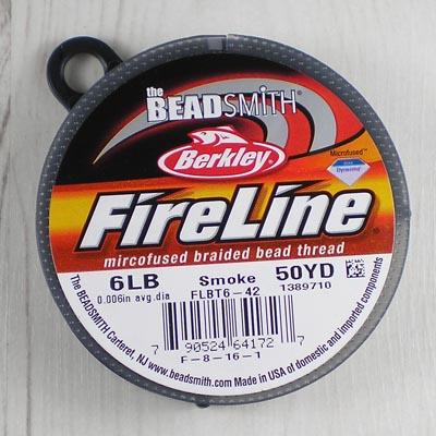 Beadstampede Fireline 6lb Smoke