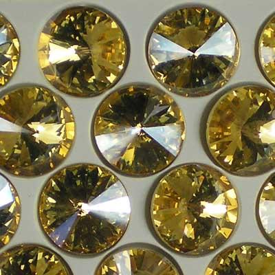 Beadstampede 16mm Rivoli Champagne Fizz
