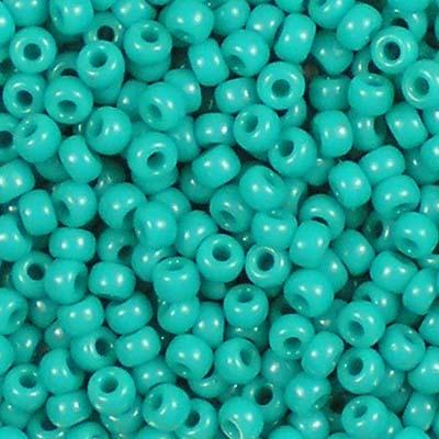 Beadstampede Miyuki 8/0 412 Opaque Turquoise Green
