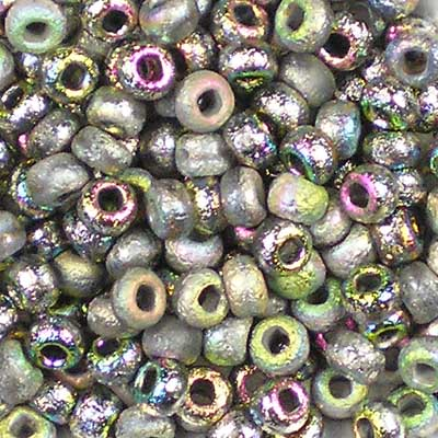 Beadstampede Czech 6/0 Seed Beads Etched crystal Vitrail