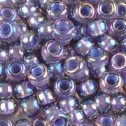 Bead Stampede 6-0360 Lavender-Lined Amethyst AB - Miyuki 6/0 Seed Beads