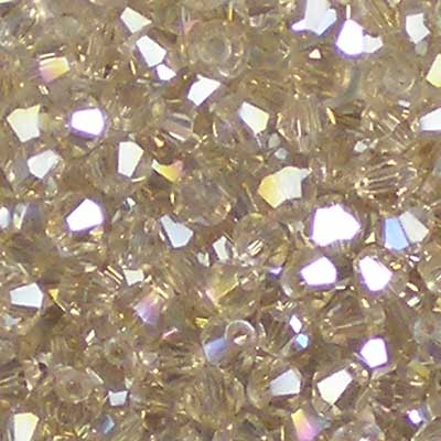Beadstampede Glass 3mm Bicone Champagne AB