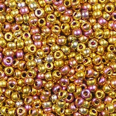 Beadstampede 11/0 Miyuki 199 24kt Gold-Plated Iris