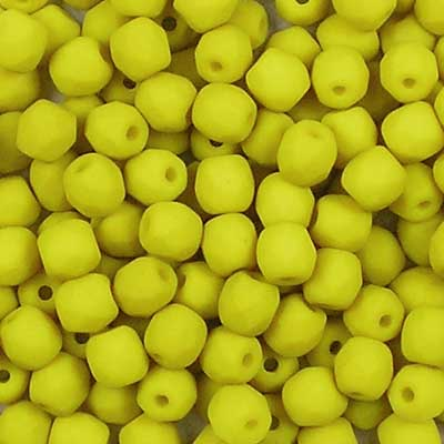 Bead Stampede Saturated Lemongrass 3mm Czech Fire-polished beads